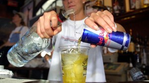 """The FDA has issued strict warnings against caffeinated alcohol drinks; mixing alcohol and energy drinks can lead to """"wide-awake drunkenness""""."""