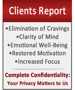 Clients Report Elimination of Cravings