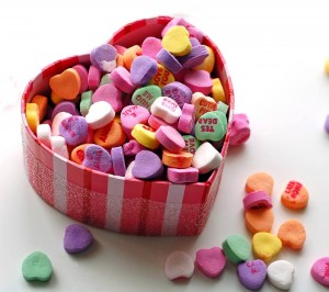 A heart-shaped box filled with heart-shaped candy is not necessarily the way to celebrate Valentine's day while in recovery