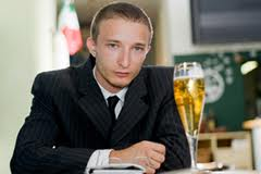 A young professional will try to go three days without drinking alcohol to see if have early signs of alcoholism